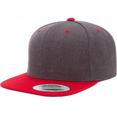 Кепка FlexFit 6089MT - Classic Snapback Dark Heather/Red