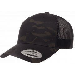 Кепка FlexFit 6606MC Retro Trucker - Multicam Black