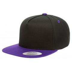 Кепка FlexFit 6007T - Classic Snapback Black/Purple